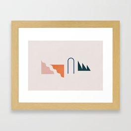 Even Framed Art Print