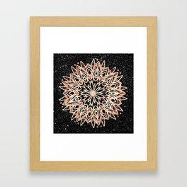 Metallic Mandala Framed Art Print