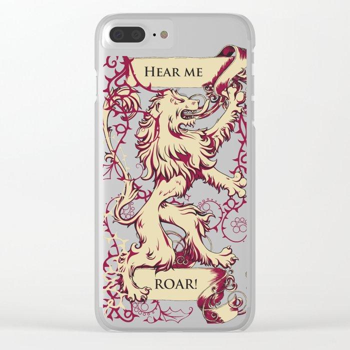 Lion - Hear me roar Clear iPhone Case