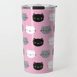 Cute Cats & Kawaii Kittens (Pink) Travel Mug