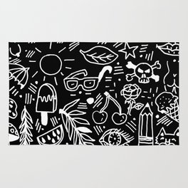 Black & White Minimal Pattern Rug