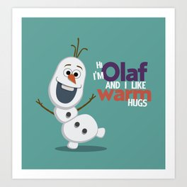 Olaf Art Print