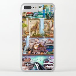 The Amazing Animal Kingdom Clear iPhone Case