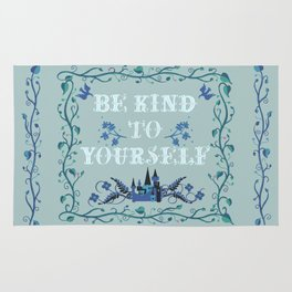 Be Kind To Yourself Fairytale Sign Rug
