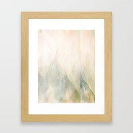 Pastel Mountains Framed Art Print