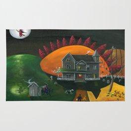 Hilly Haunted House Rug