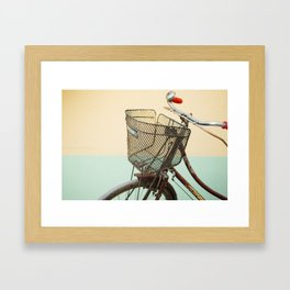 Vintage Bike in Kolkata  Framed Art Print