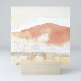 Terra Cotta Hills Abstract Landsape Mini Art Print