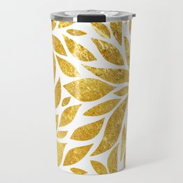 Golden Bloom Travel Mug