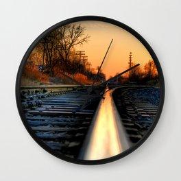 Down the Tracks Wall Clock