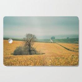 The field in autumn Cutting Board