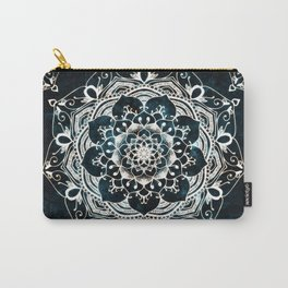 Glowing Spirit Mandala Blue White Carry-All Pouch