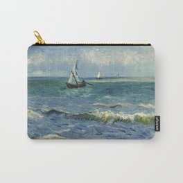 The Sea at Les Saintes-Maries-de-la-Mer by Vincent van Gogh Carry-All Pouch