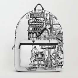 the world / black and white Backpack