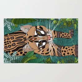 ocelot jungle green Rug