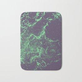 Alien marble glitch - green stone Bath Mat