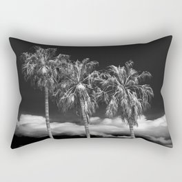 Palm Trees in Black and White on Cabrillo Beach Rectangular Pillow