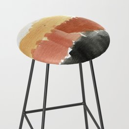 Abstract in Rust n Clay Bar Stool