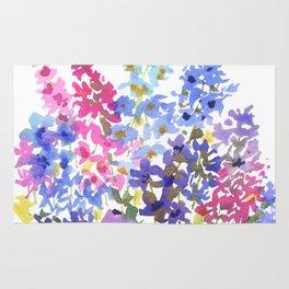 Blue Delphinium Garden Rug