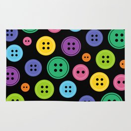 Colorful Rainbow Buttons Rug