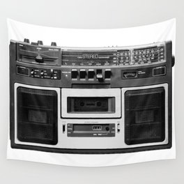 cassette recorder / audio player - 80s radio Wall Tapestry