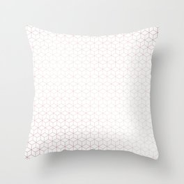 Simply Cubes in Rose Gold Sunset Throw Pillow