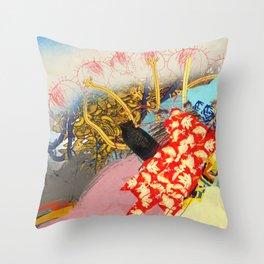 Big Red&Bananas Throw Pillow