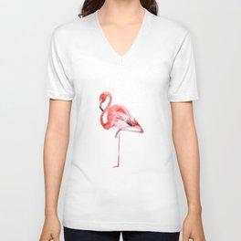 The Flamingo Unisex V-Neck