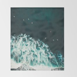 WAVES - OCEAN - SEA - WATER - COAST - PHOTOGRAPHY Throw Blanket