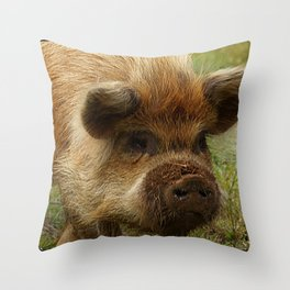 March of the Ginger Pig Throw Pillow