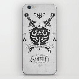 Legend of Zelda - The Hylian Shield Foundry iPhone Skin