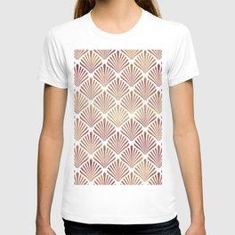 Rose-gold geometric art-deco pattern T-shirt