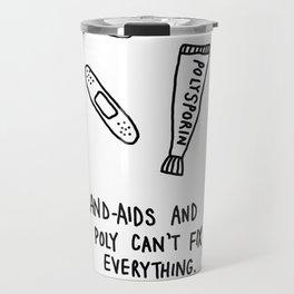 band-aids and poly Travel Mug