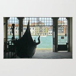 Gondola on Giudecca Island, Grand Canal, Venice Rug