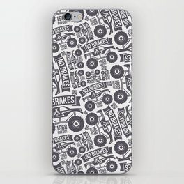 Pattern with the image of bigfoot car iPhone Skin