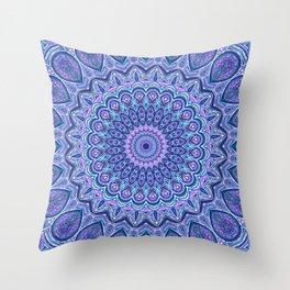 Purple Passion - Mandala Art Throw Pillow