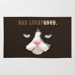 Grumpy Bad Luck Cat Rug