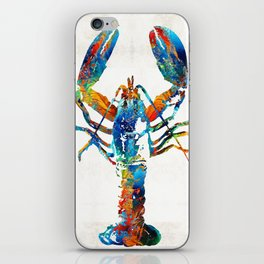 Colorful Lobster Art by Sharon Cummings iPhone Skin