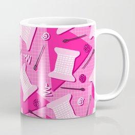 Memphis Sewing in Pink Coffee Mug