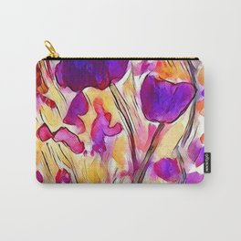 Poppies - Purple Watercolour Carry-All Pouch