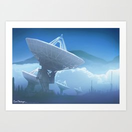SETI communication with the stars Art Print