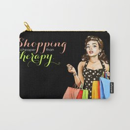 Retro Pinup Girl Shopping Retail Therapy Carry-All Pouch