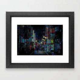 Tokyo Nights / Kabukicho Nights / Liam Wong Framed Art Print