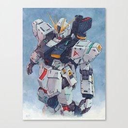 Nu Gundam watercolor Canvas Print