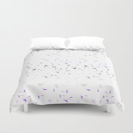Dandelion Seeds Asexual Pride (white background) Duvet Cover