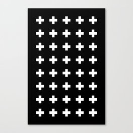 Swiss Cross Black Canvas Print