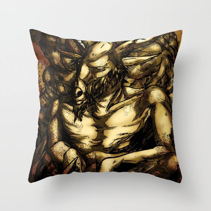 HORNED GOD Throw Pillow