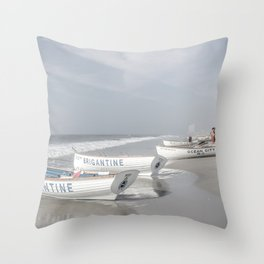 Beach Patrol Brigantine Throw Pillow