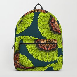 Artsy Summer Neon Yellow Lace Sunflower Backpack
