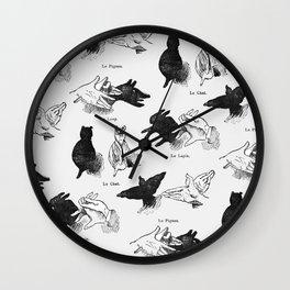 Shadow Puppets Wall Clock